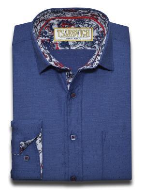 Рубашка Tsarevich. Цвет: синий