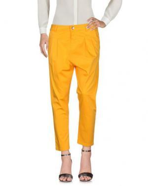 Повседневные брюки ENTRE AMIS. Цвет: абрикосовый
