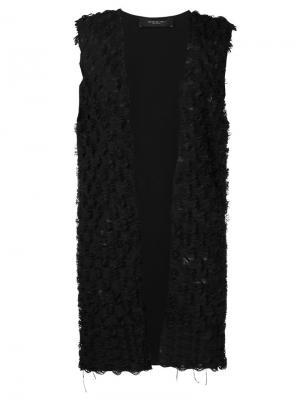 Fringed vest Federica Tosi. Цвет: чёрный