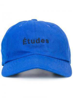 Бейсболка с логотипом Études. Цвет: синий