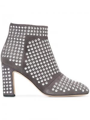 Ботинки по щиколотку с заклепками Christopher Kane. Цвет: серый