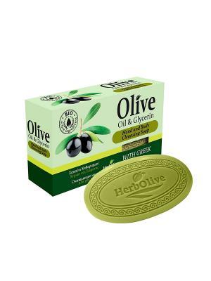 ГЕРБОЛИВ Натуральное оливковое мыло с глицерином. Вес: 90гр. Madis S.A.. Цвет: оливковый