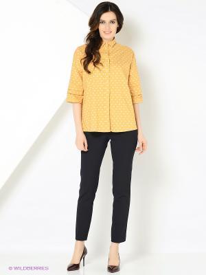 Рубашка с принтом рыбки желтая MONOROOM. Цвет: желтый