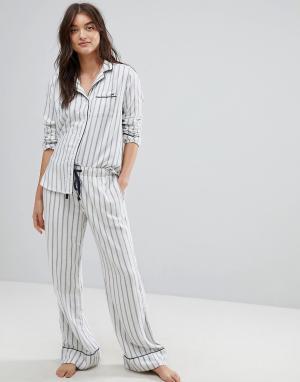Abercrombie & Fitch Пижамные штаны в полоску. Цвет: мульти