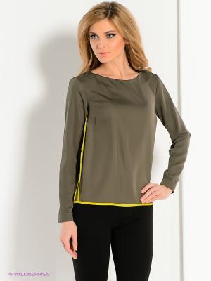 Блузка adL. Цвет: хаки, желтый