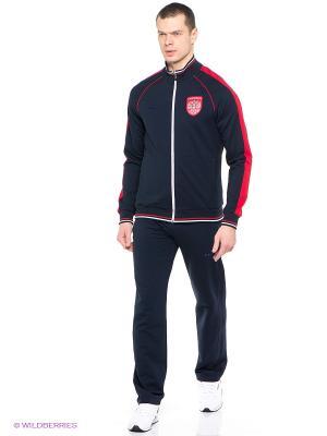 Спортивный костюм ADDIC. Цвет: темно-синий