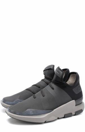 Текстильные кроссовки Noci с кожаной отделкой Y-3. Цвет: черный