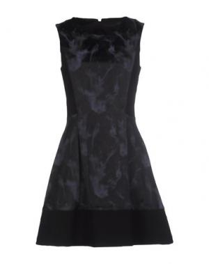 Короткое платье CARLA MONTANARINI. Цвет: темно-синий