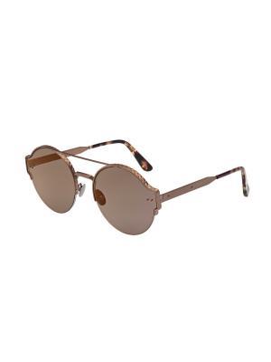Солнцезащитные очки Bottega Veneta. Цвет: бронзовый