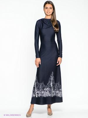 Платье Xarizmas. Цвет: темно-синий, белый