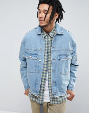 Zeffer Светло-голубая джинсовая куртка. Цвет: синий