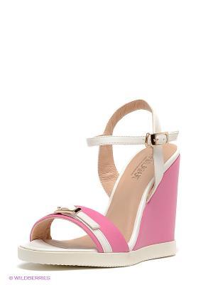 Босоножки MILANA. Цвет: розовый, белый