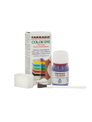 Краситель  для гладкой кожи TDC01 COLOR DYE, стекло, 25мл. (023 фиолетовый) Tarrago. Цвет: темно-фиолетовый, фиолетовый