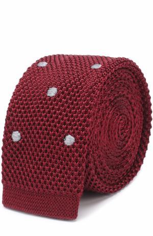 Шелковый вязаный галстук Lanvin. Цвет: красный