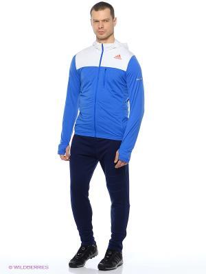 Толстовка Stretchjacket M Adidas. Цвет: белый, синий