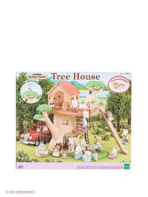 Набор Дерево-дом Sylvanian Families. Цвет: коричневый