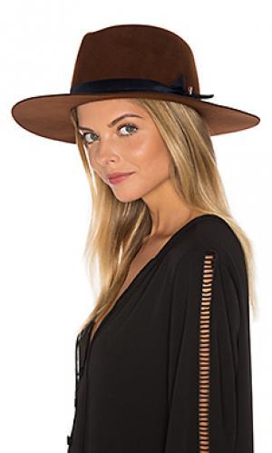 Шляпа poppy KIN/K. Цвет: cognac