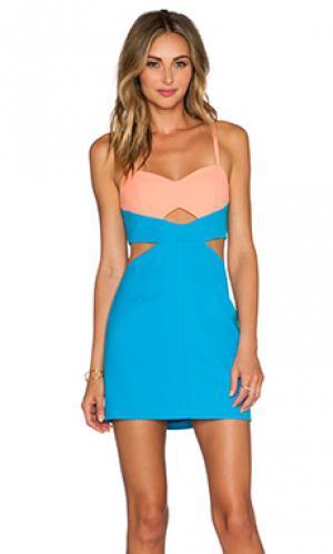 Обтягивающее платье never NBD. Цвет: синий