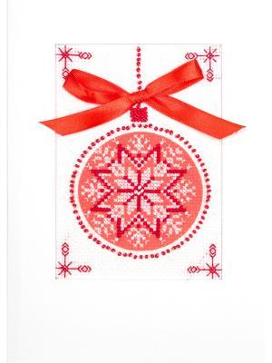 Набор для создания открытки Скандинавский мотив Матренин Посад. Цвет: белый, красный