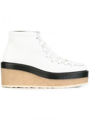 Туфли на платформе со шнуровкой Pierre Hardy. Цвет: белый