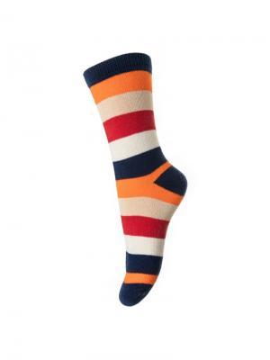 Носки PlayToday. Цвет: синий, красный, оранжевый