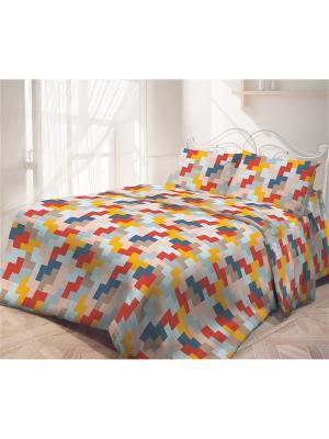 Постельное белье Самойловский текстиль. Цвет: синий, желтый, красный