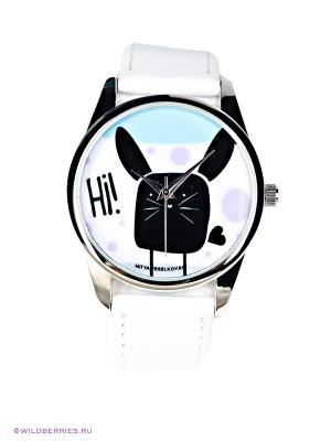 Часы Mitya Veselkov. Цвет: белый, голубой, черный