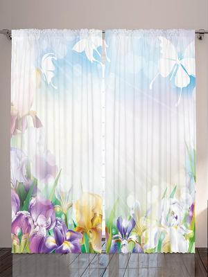 Фотошторы Детские сказки, 290*265 см Magic Lady. Цвет: белый, голубой, сиреневый, фиолетовый