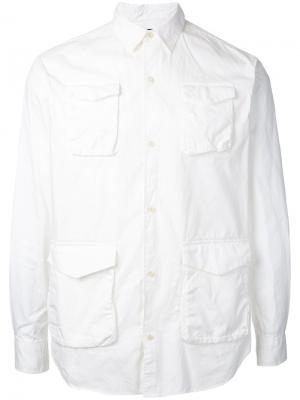 Рубашка с карманами на пуговицах Undercover. Цвет: белый