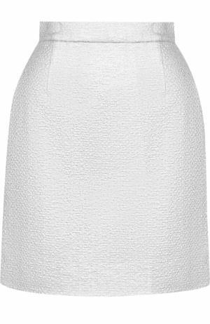 Мини-юбка с широким поясом Carven. Цвет: серебряный