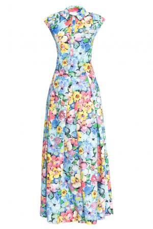 Платье из хлопка 160652 Infinee. Цвет: разноцветный
