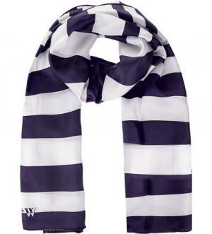 Шелковый шарф в полоску FRAAS. Цвет: синий