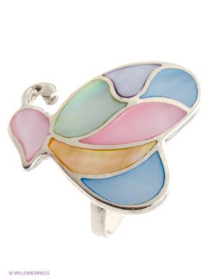 Ювелирное кольцо Infiniti. Цвет: серебристый, розовый, желтый, голубой