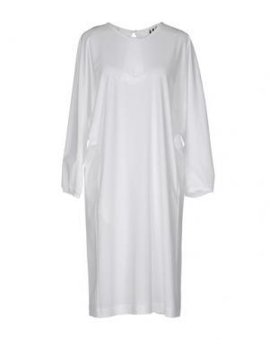 Платье до колена Y-3. Цвет: белый