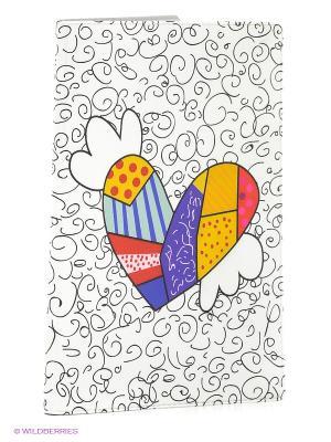 Обложка для автодокументов Крылатое сердце Mitya Veselkov. Цвет: белый