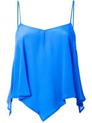 Блузка Triangular Cami Roberto Collina. Цвет: синий