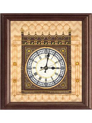 Набор для шитья и вышивания часы Биг-Бен Матренин Посад. Цвет: коричневый