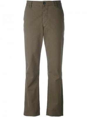 Укороченные брюки Masscob. Цвет: зелёный