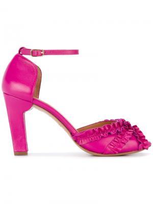 Босоножки Anulu Chie Mihara. Цвет: розовый и фиолетовый