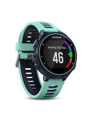 Умные часы Forerunner 735XT HRM-Run темно-синие с голубым пульсометром GARMIN. Цвет: голубой, синий