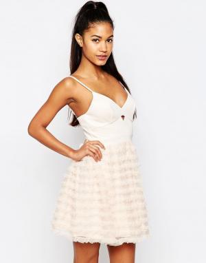 Lipsy Платье для выпускного мини Ariana Grande For Rara. Цвет: розовый
