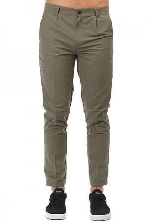 Штаны прямые  Chino Khaki Anteater. Цвет: зеленый