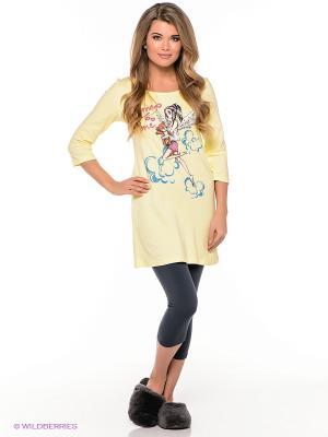 Пижама PELICAN. Цвет: желтый, темно-серый