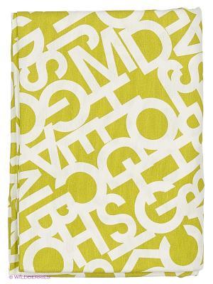 Скатерть Alba Green T&I. Цвет: салатовый, белый