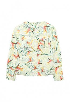 Куртка джинсовая United Colors of Benetton. Цвет: зеленый