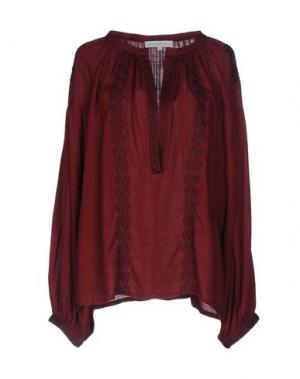Блузка CHRISTOPHE SAUVAT. Цвет: красно-коричневый
