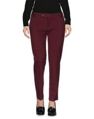 Повседневные брюки TRUE TRADITION. Цвет: красно-коричневый
