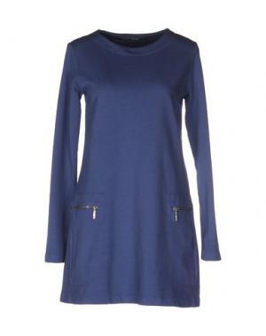 Короткое платье EUROPEAN CULTURE. Цвет: грифельно-синий