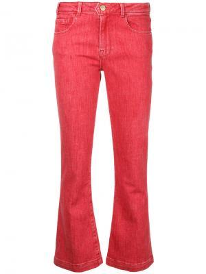 Укороченные расклешенные джинсы Frame Denim. Цвет: розовый и фиолетовый