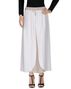 Длинная юбка LORENA ANTONIAZZI. Цвет: белый